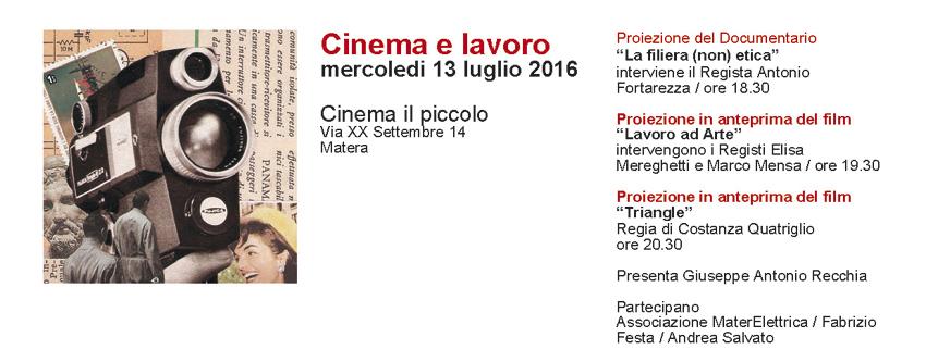 Cinema e Lavoro - 13 Luglio 2016