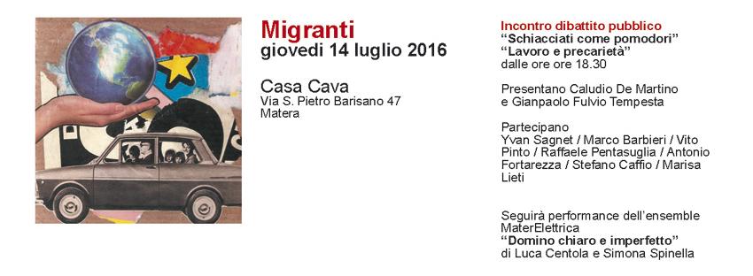 Migranti - 14 Luglio 2016